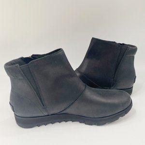 Sorel Women's Harlow Zip waterproof Bootie Black